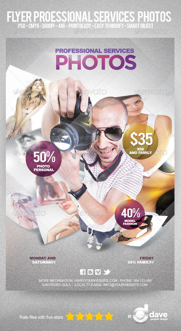 Flyer Professional Service Photos - Flyers Print Templates