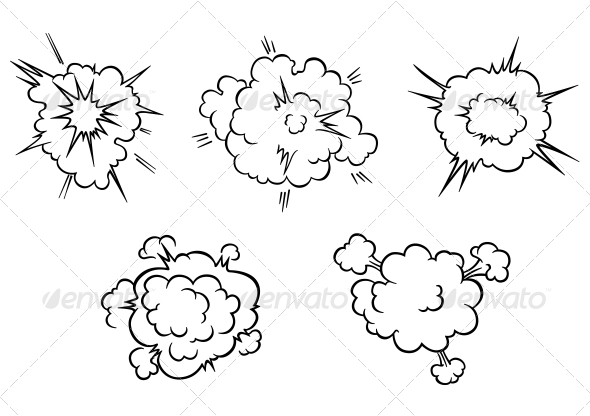 Clouds and Explosions - Miscellaneous Vectors