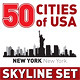 The Vector City Skyline Set 50 USA Cities - GraphicRiver Item for Sale