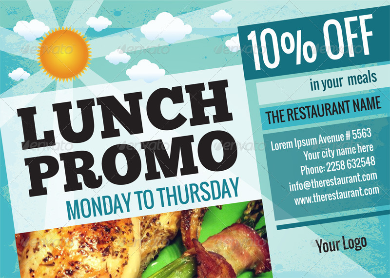 lunch dinner promo poster flyer a3 a5 by good chemistry