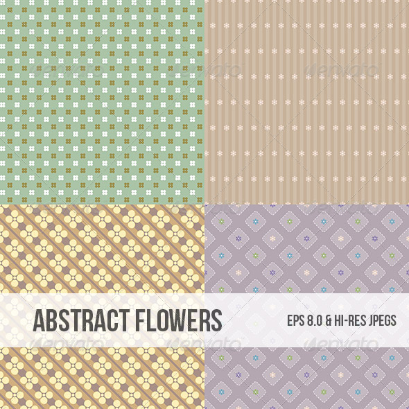 Seamless Abstract Flower Pattern Background - Backgrounds Decorative