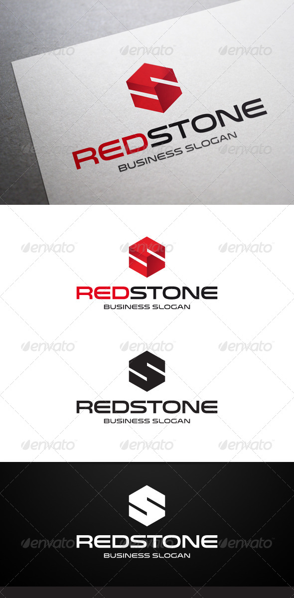 Red Stone S Letter Logo - Letters Logo Templates