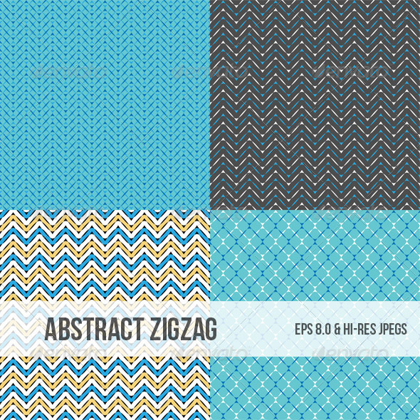 Seamless Zigzag Abstract Patterns - Backgrounds Decorative