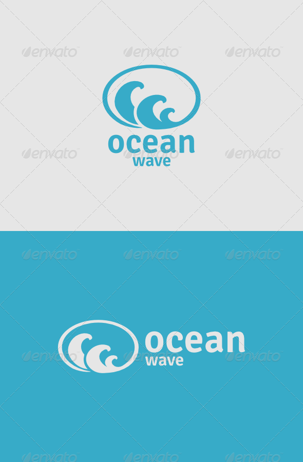 Ocean Wave Logo - Objects Logo Templates