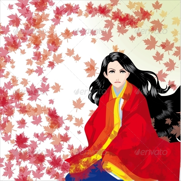 The Girl in a Kimono - People Characters