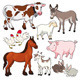 Farm animals.  - GraphicRiver Item for Sale