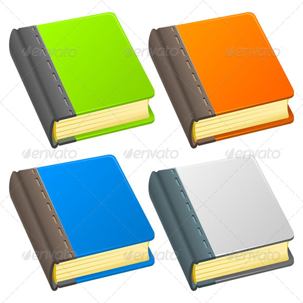 Book Icon Illustration - Objects Vectors