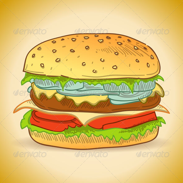 Tasty Burger - Food Objects
