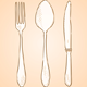Rough Cutlery Illustration - GraphicRiver Item for Sale