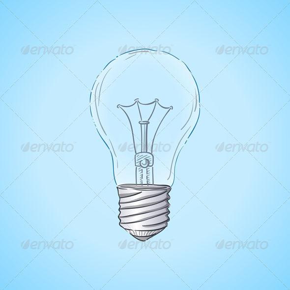 Lightbulb Illustration - Objects Vectors