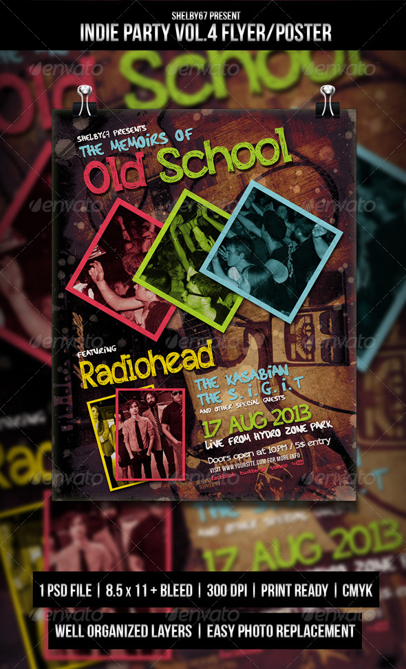 Indie Party Flyer / Poster Vol.4 - Events Flyers