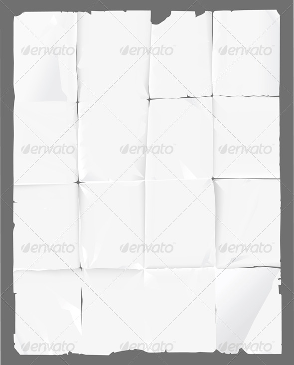 Crumpled Paper - Backgrounds Decorative