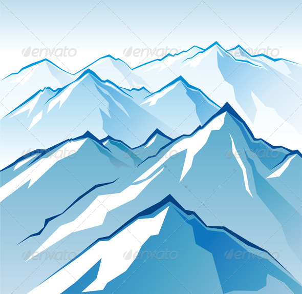 Icy Mountains - Landscapes Nature