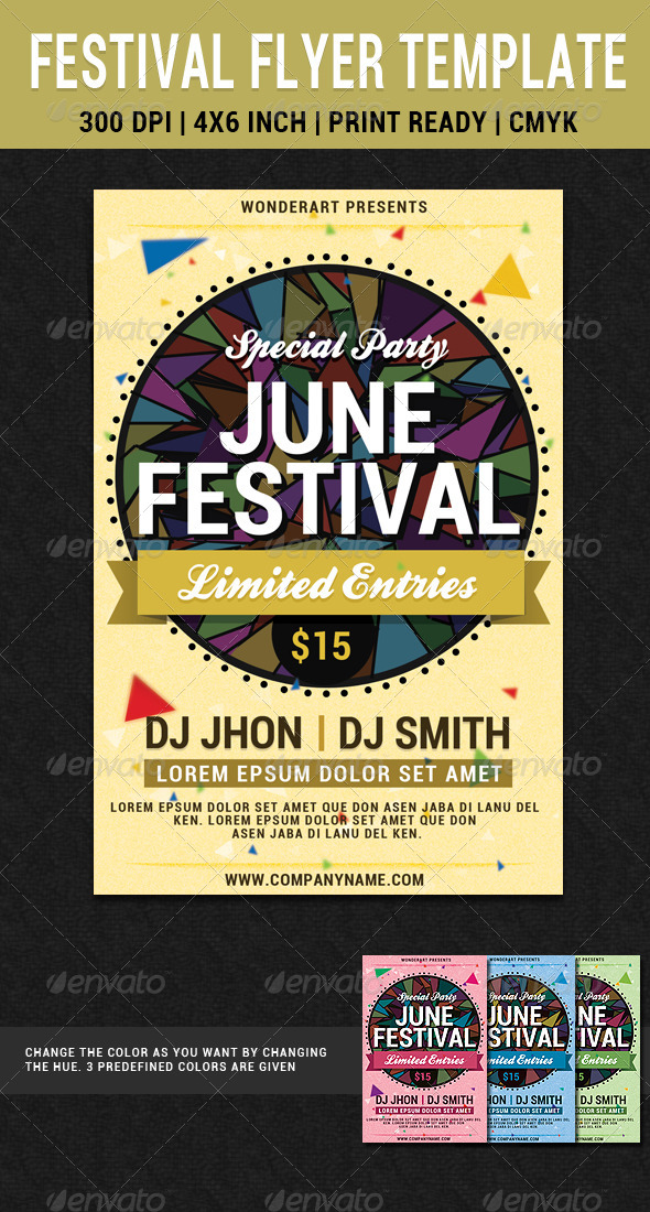 june festival party flyer poster template by wonderart