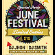 June Festival Party Flyer Poster Template - GraphicRiver Item for Sale
