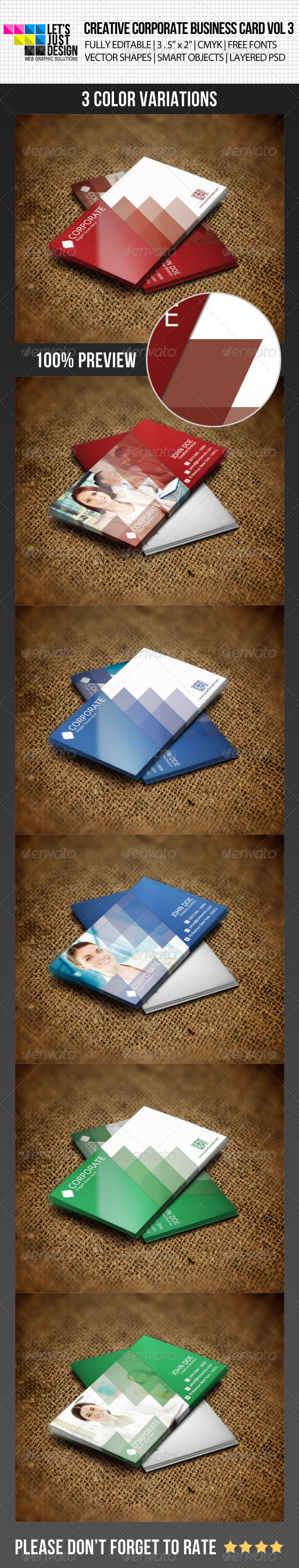 Creative Corporate Business Card Vol 3 - Corporate Business Cards