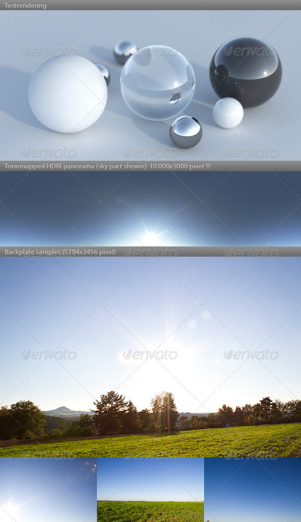 HDRI spherical sky panorama -1720- clear sunny - 3DOcean Item for Sale