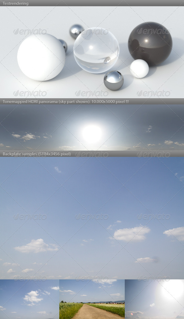 HDRI spherical sky panorama -1654- summer sunny - 3DOcean Item for Sale