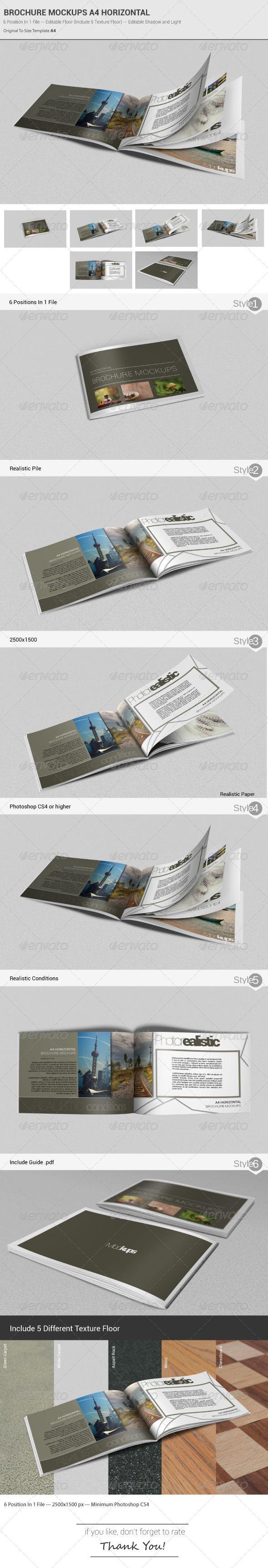 Brochure Mockups A4 Horizontal - Brochures Print