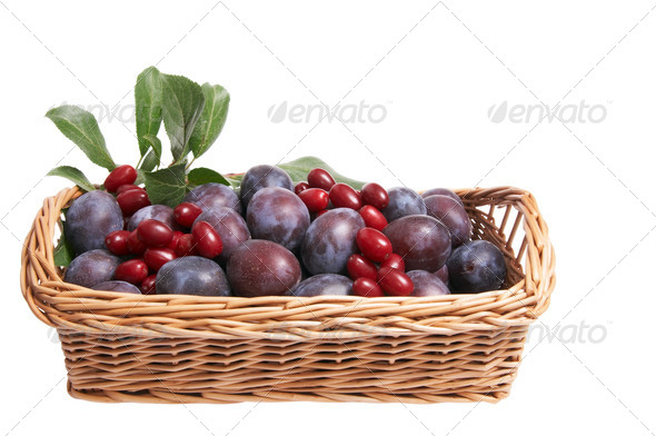 Juicy fruits in the basket. - Stock Photo - Images