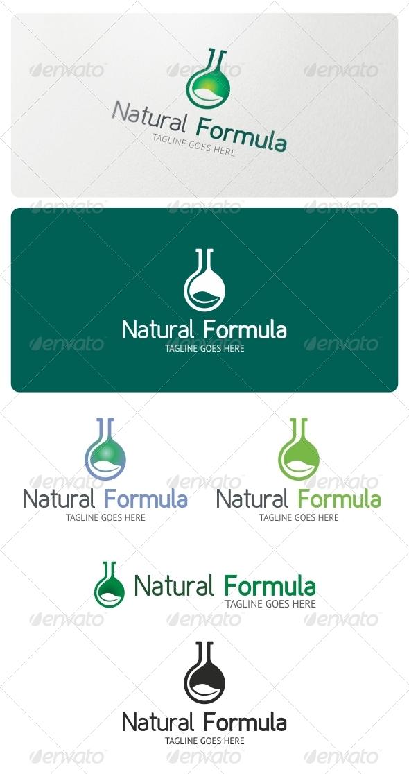 Natural Formula Logo Template - Nature Logo Templates