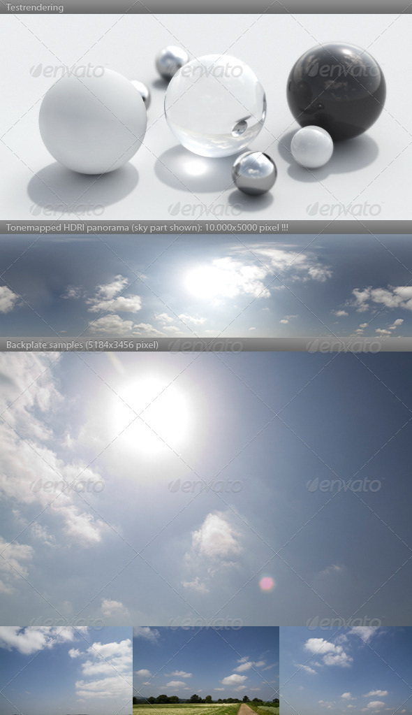 HDRI spherical sky panorama -1050- sunny morning - 3DOcean Item for Sale
