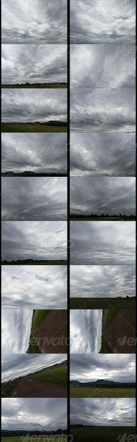 HDRI spherical sky panorama -1451- stormy clouds