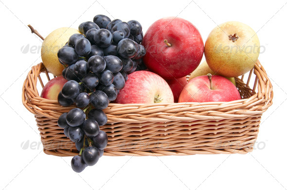Tasty,juicy fruit in the basket. - Stock Photo - Images