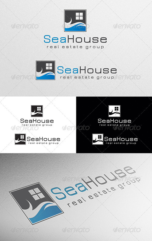Sea House Logo - Abstract Logo Templates