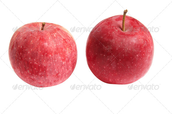 Tasty,ripe an apples on a white. - Stock Photo - Images
