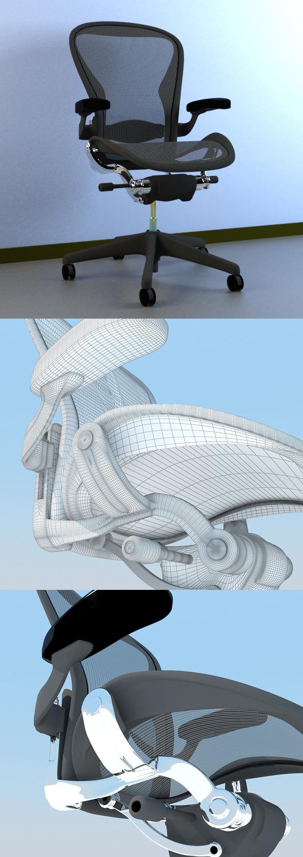 Aeron Work Chair Herman Miller MAX 2011 - 3DOcean Item for Sale