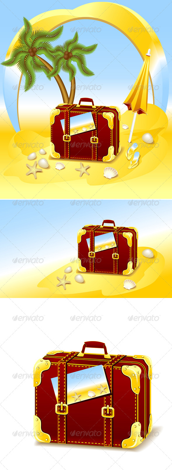 Suitcase for Summer at the Beach - Travel Conceptual