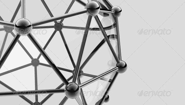 Scientific 3D Model of the Molecule - Abstract Conceptual