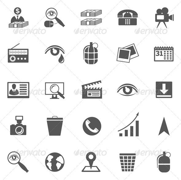 Business Gray Icon Set - Web Elements Vectors