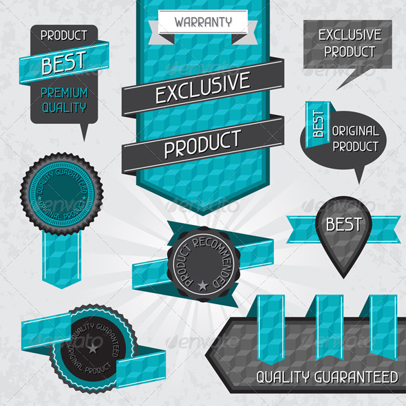 Set of Premium Quality Labels and Stickers - Retail Commercial / Shopping