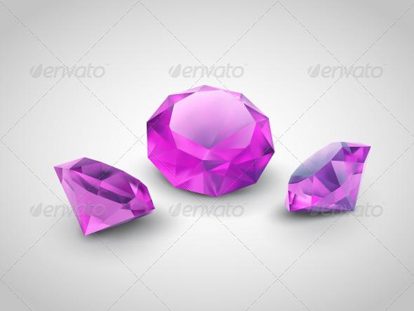 Purple Gems - Objects Vectors
