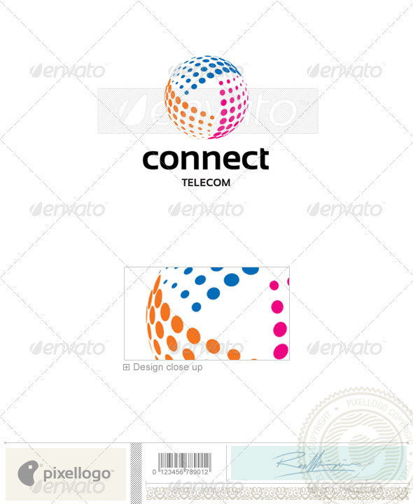 Telecom Logo - 2315 - Vector Abstract