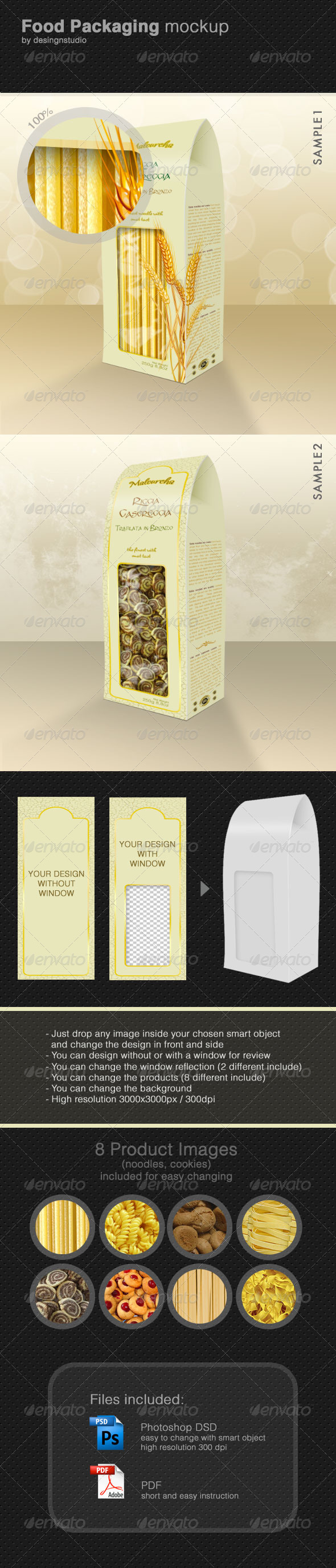 Food Packaging Mock-Up - Food and Drink Packaging