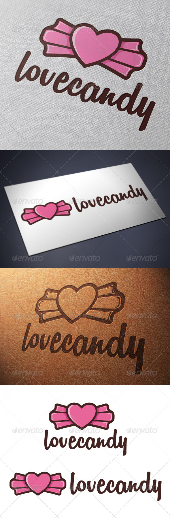 Candy Love Logo Template - Food Logo Templates