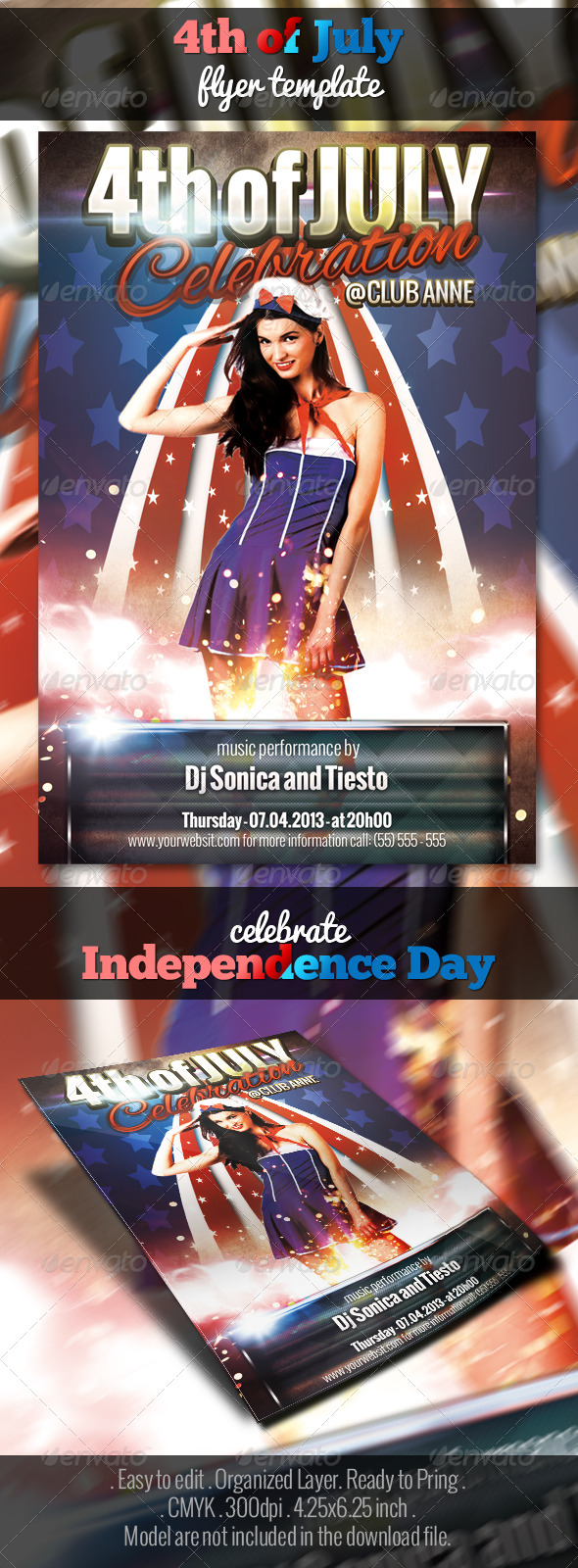 4th of july flyer template by matrixpixel graphicriver for 4th of july menu template