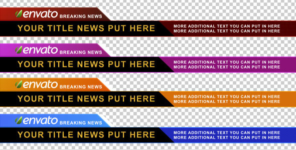 Corporate Lower Third Pack 4 Color