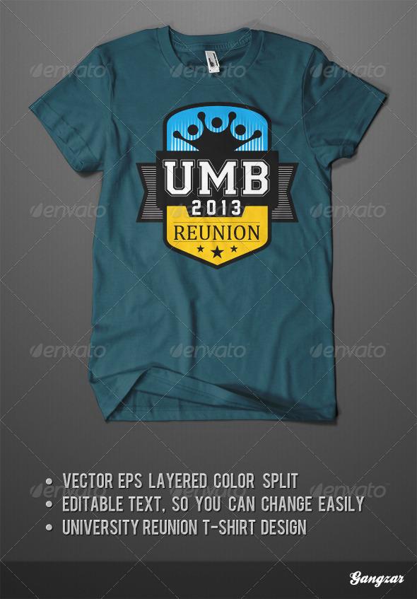University Reunion T-Shirt Design Template - Academic T-Shirts