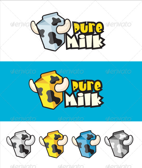 Pure Milk Logo - Food Logo Templates
