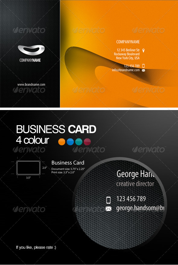 Four colour business card by pixelonpl graphicriver four colour business card corporate business cards 01g 02g 03g 04g reheart Gallery