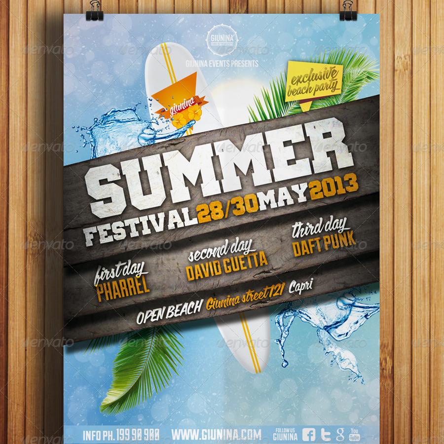 summer festival flyer vol 1 by giunina
