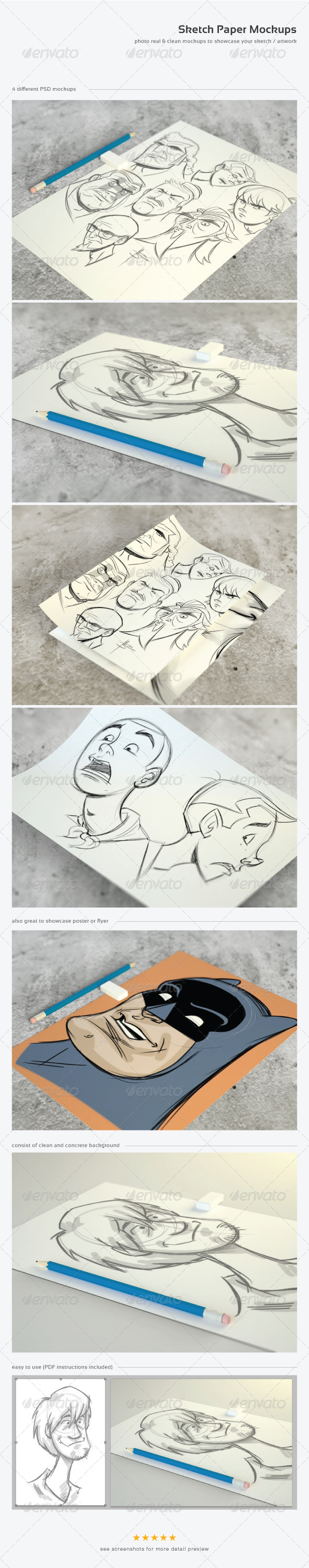 Sketch Paper Mock-Ups - Miscellaneous Print
