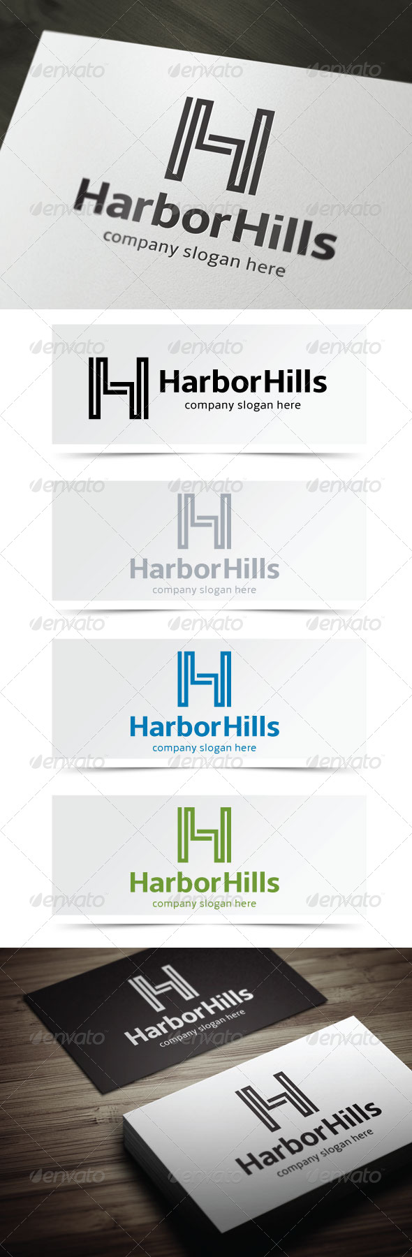 Harbor Hills - Letters Logo Templates