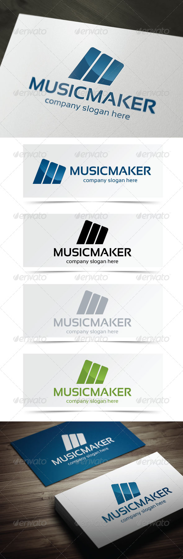 Music Maker - Letters Logo Templates