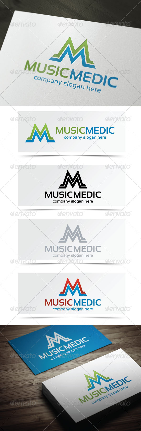 Music Medic - Letters Logo Templates
