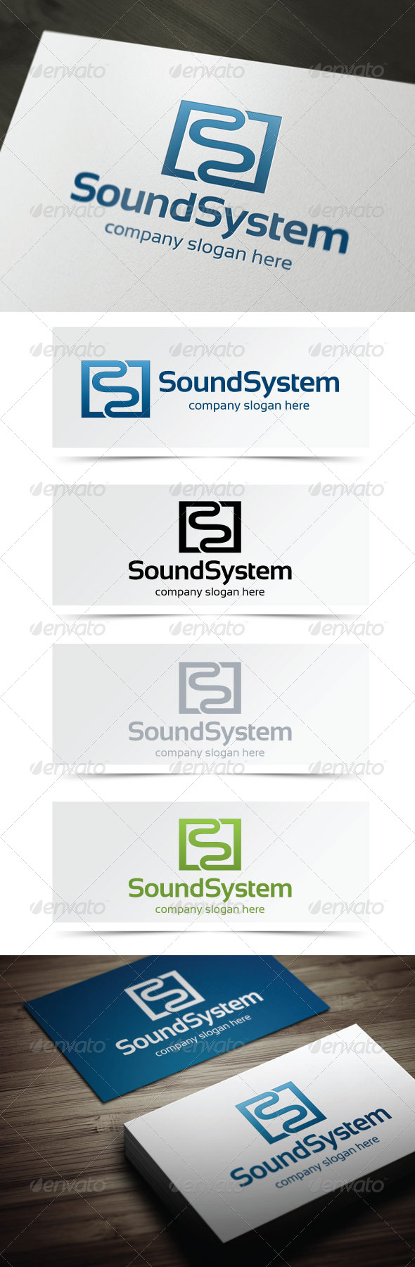 Sound System - Letters Logo Templates